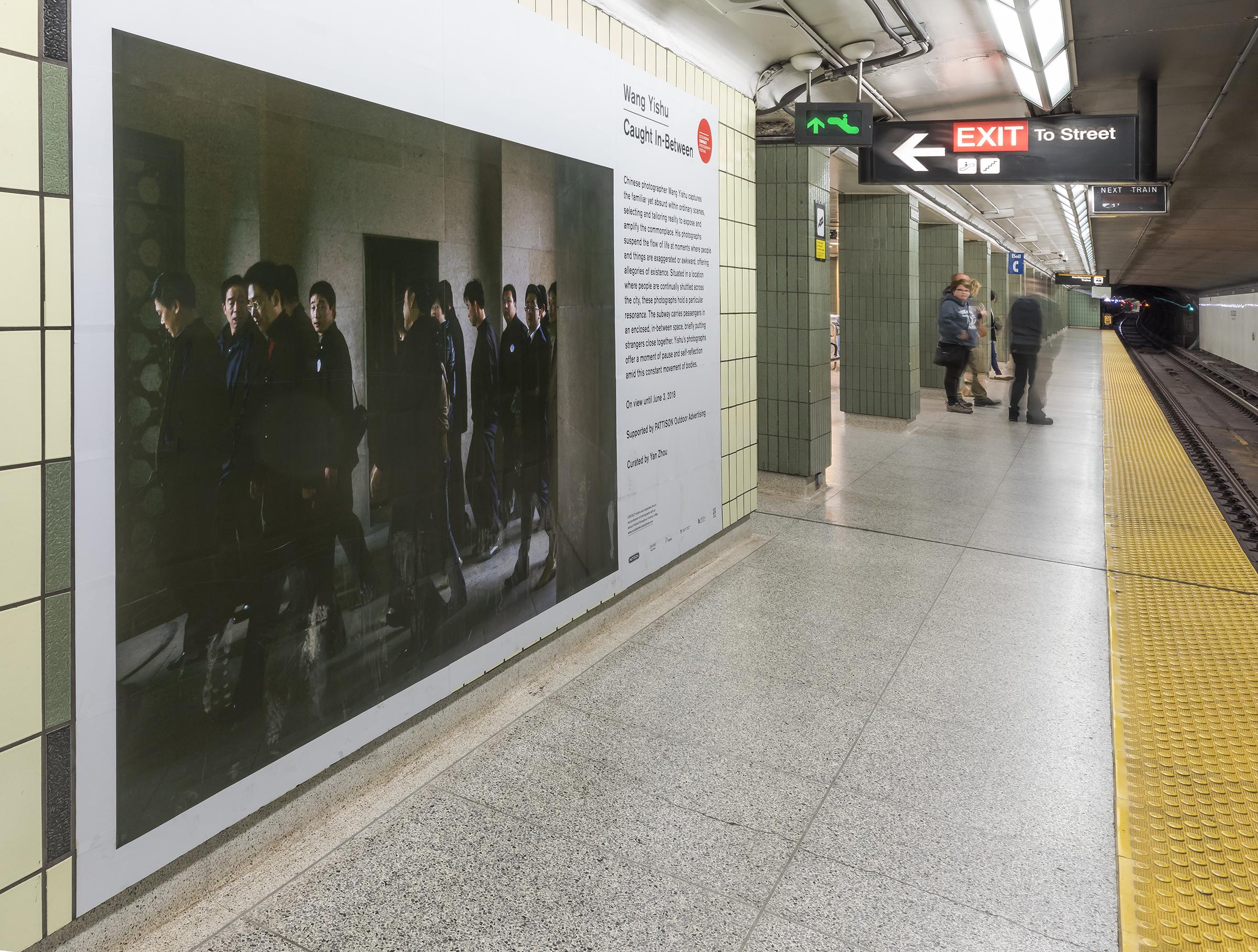 Wang Yishu, Caught In-Between, 2018. Installation at Osgoode Station, Toronto. Photo by Toni Hafkensheid