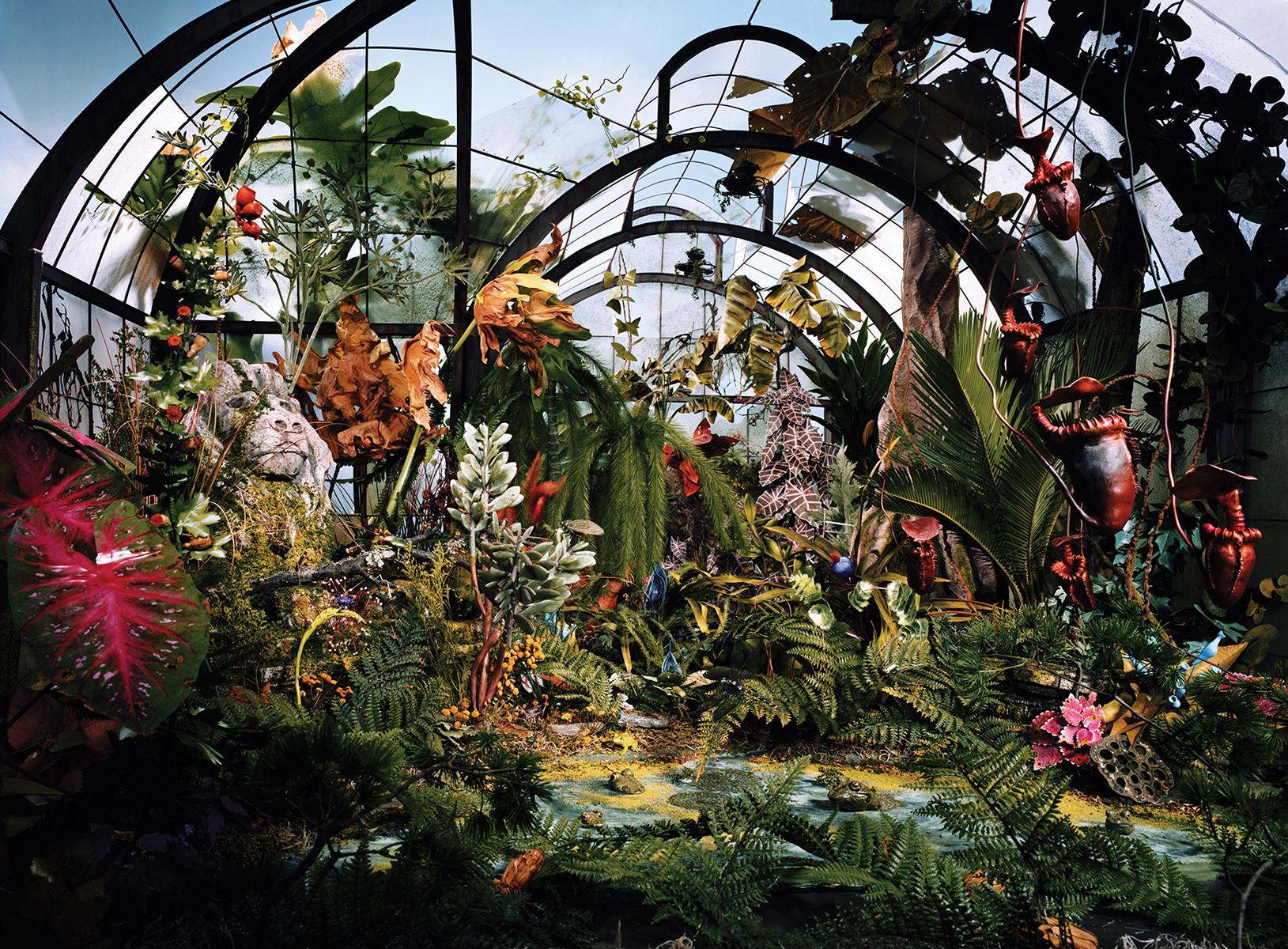 "Lori Nix and Kathleen Gerber, Botanic Gardens, 2008. Chromogenic Print, 48 x 65"". Courtesy of Bau-Xi Photo."
