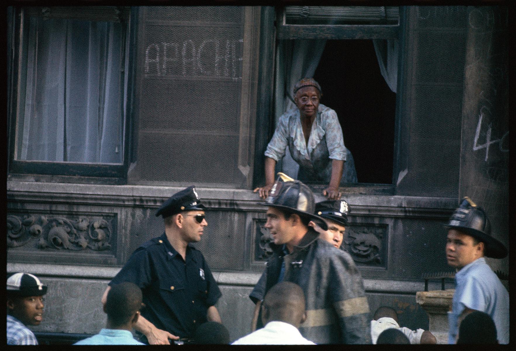 Gordon Parks, Neighbourhood of Gang Warfare, Harlem, New York, 1963, Archival pigment print. Courtesy of and copyright The Gordon Parks Foundation.
