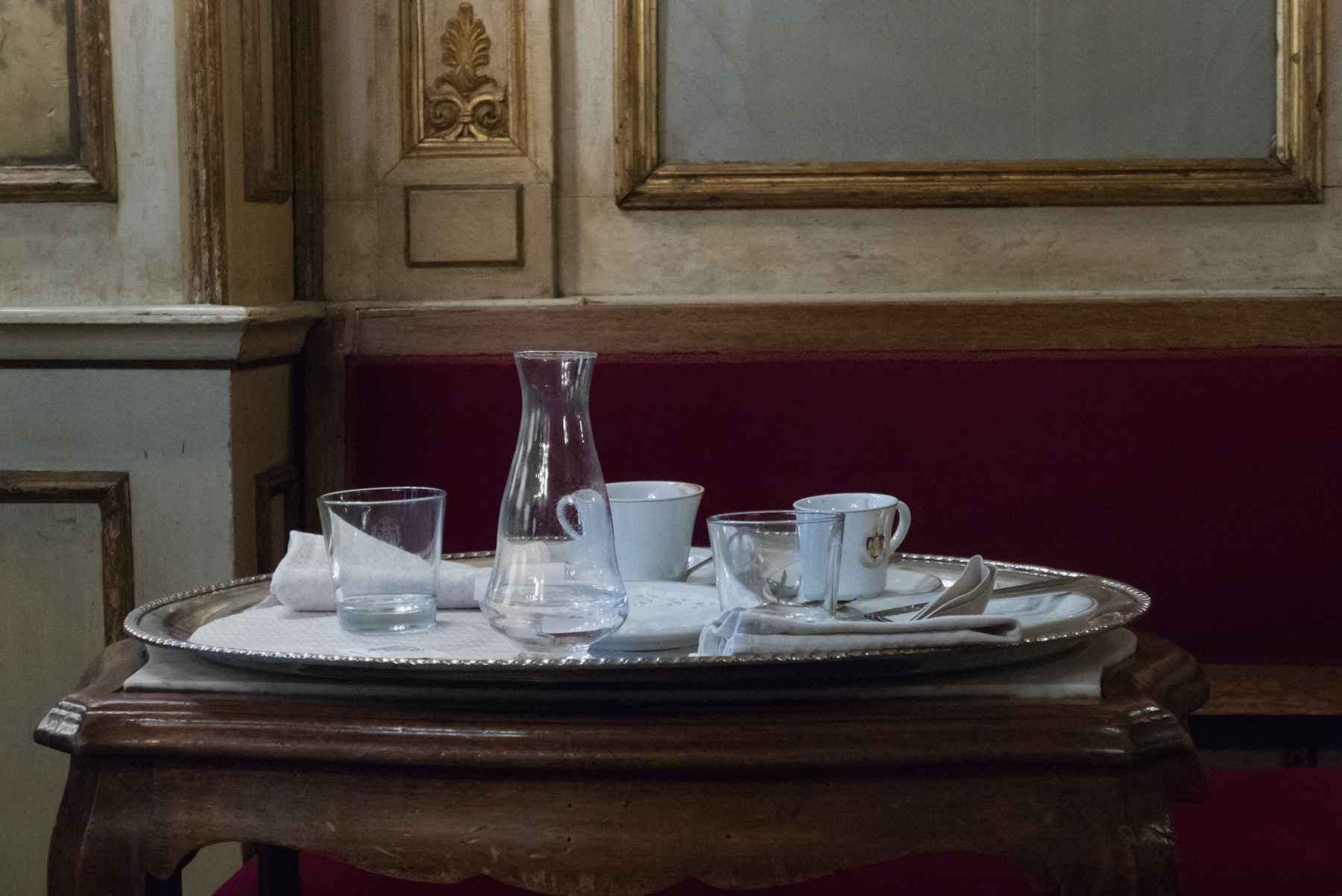 """Angela Grauerholz, Venice Café, 2017. Archival pigment print, 40 × 60""""."""