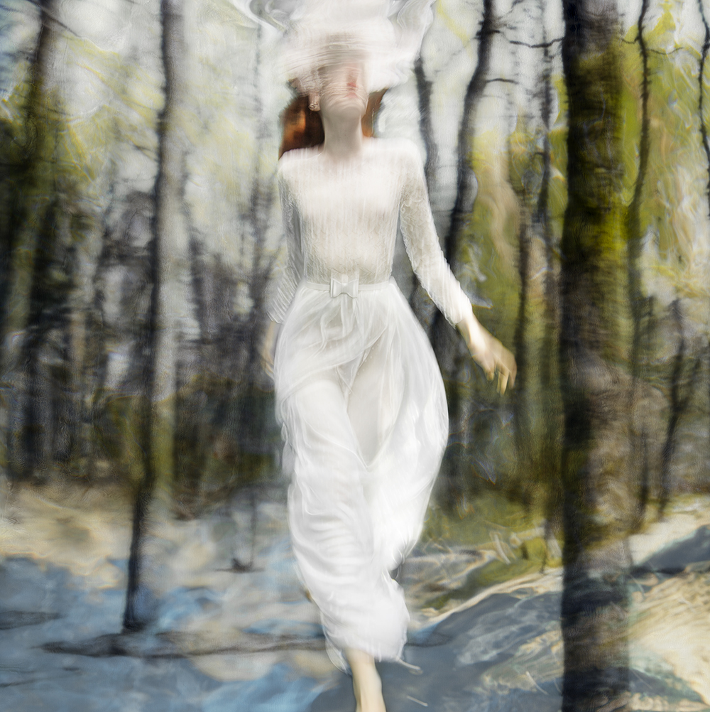 """Barbara Cole , Lost in Time, from Falling Through Time, 2016. Chromogenic print,  48x48"""". Edition of 10"""