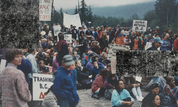 Ian Wallace, Clayoquot Protest, August 9, 1993, 1993-95. Collection of the Vancouver Art Gallery.
