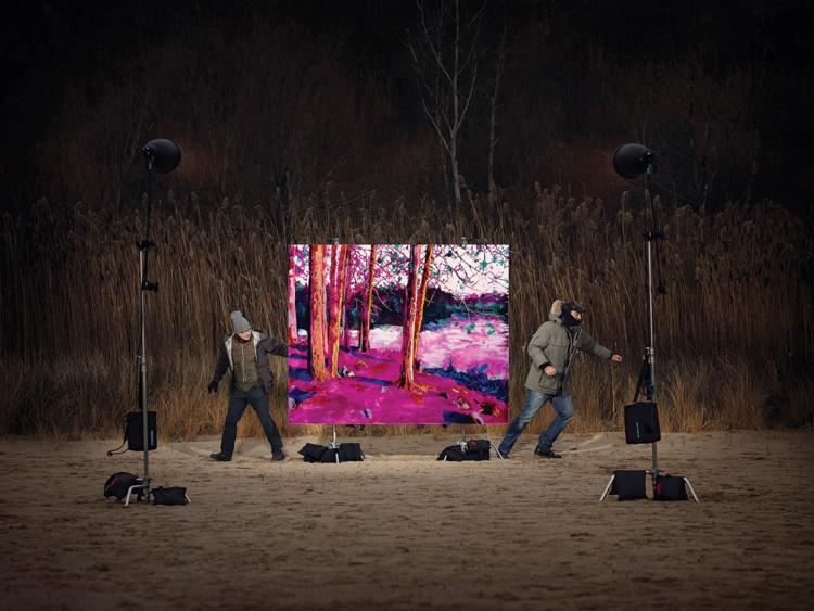 "Finn O'Hara & Steve Driscoll, For a Moment, 2014. Chromogenic print, 45 x 60""."