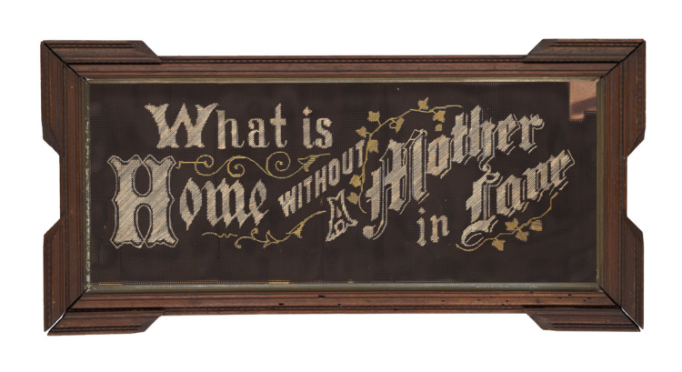 Katherine Knight, What is Home Without a Mother in Law, from the Caribou Mottos Series, 2009.