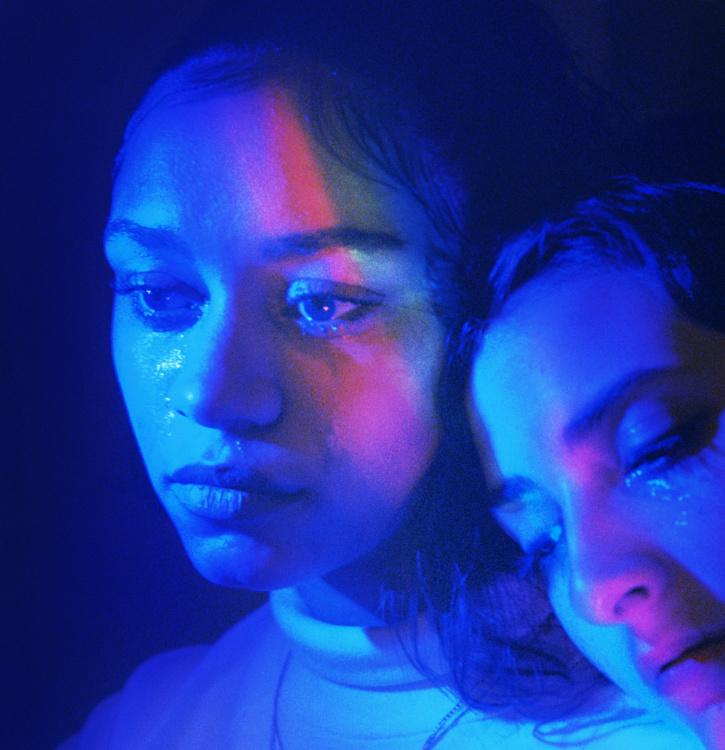 Petra Collins, Jackie and Anna (rainbow tear), 2017.