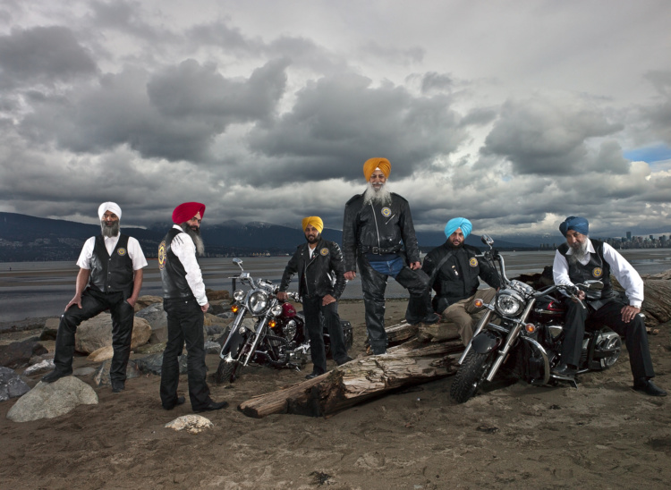 Naomi Harris, Sikh Motorcycle Club, Vancouver, British Columbia, March 2012.