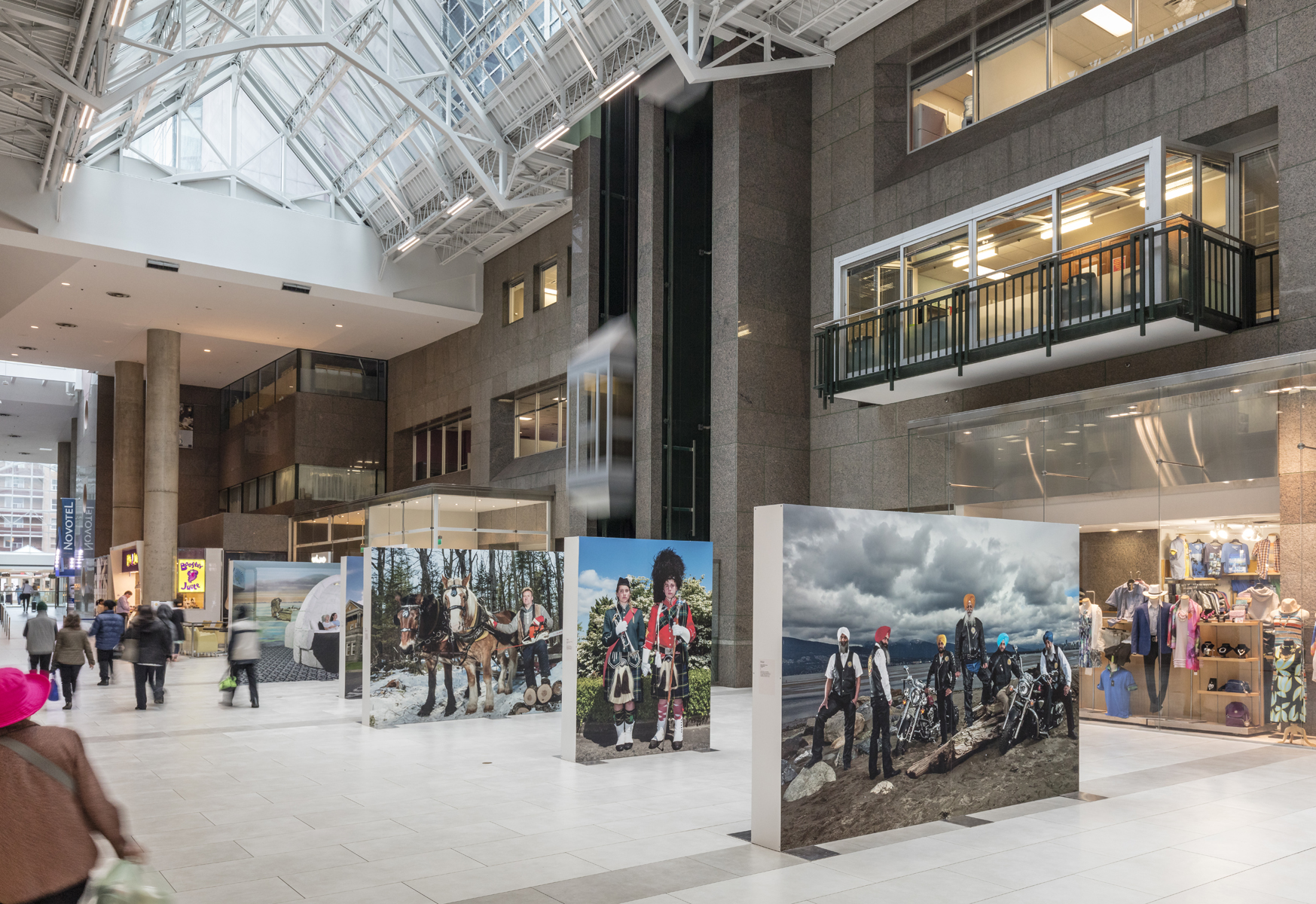 Naomi Harris, OH CANADA!, Installation view at North York Centre, 2017. Photo by Toni Hafkenscheid.