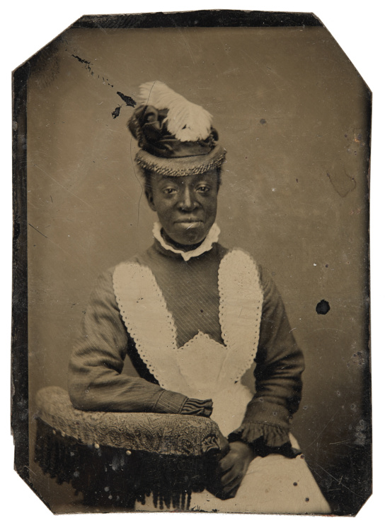 """Unknown photographer, Unidentified woman, 1870-1880. Tintype, 3x2.5"""". Richard Bell Family Fonds, Brock University Archives. Courtesy of Brock University Archives. © 2017 Art Gallery of Ontario."""