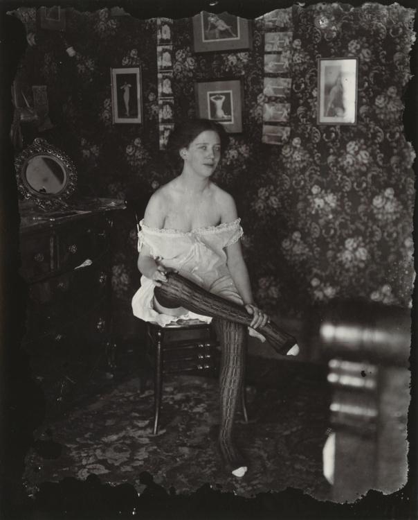 "E. J. Bellocq, Storyville Portrait, ca. 1912. 16 x 14"" framed. Image by E.J. Belloc © Lee Friedlander, courtesy Fraenkel Gallery, San Francisco. Collection of Carole and Howard Tanenbaum."