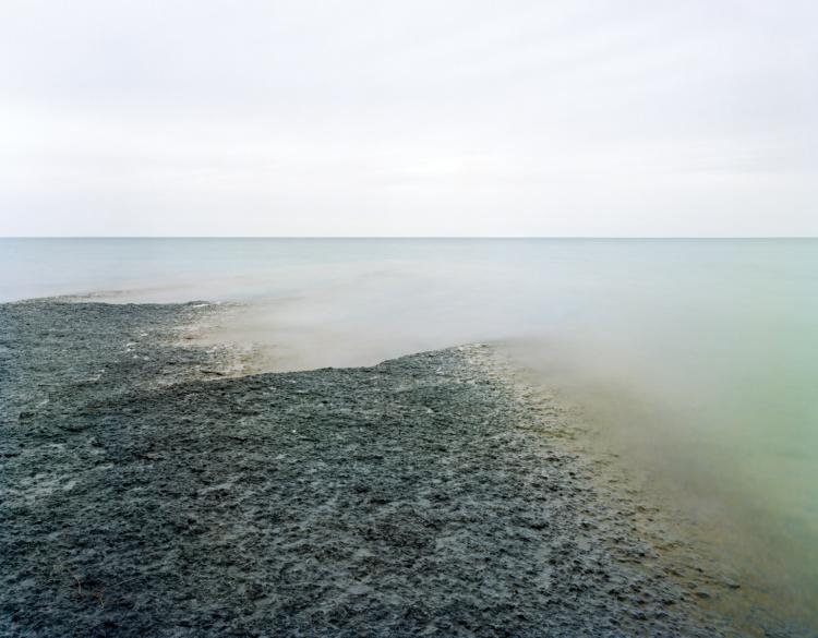 "Robert Burley, Lake Ontario, Picton, 2009. Archival pigment print, 30 x 40""."