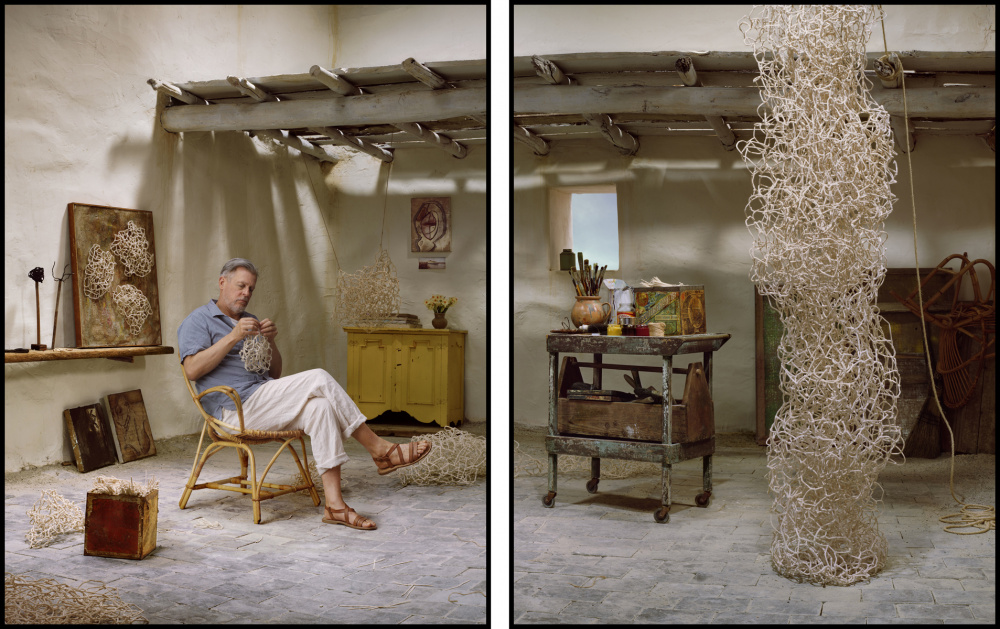 """Rodney Graham, Pipe Cleaner Artist, Amalfi '61, 2013. Two painted aluminium light boxes with transmounted chromogenic transparencies, 90 x 146 x 7"""". Courtesy of the artist and 303 Gallery, New York; Lisson Gallery, London and Hauser & Wirth , Zürich."""