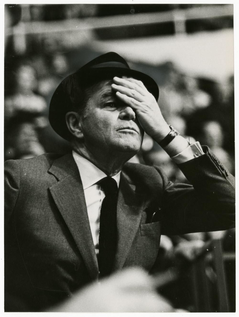Fred Ross, Jack Kent Cooke, sports team owner, 1967. Gelatin silver print, 9 x 7