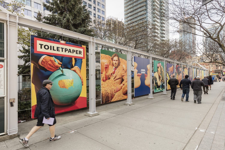 Installation view of Maurizio Cattelan and Pierpaolo Ferrari, Toilet Paper: Toronto Carousel, Photo: Toni Hafkenscheid
