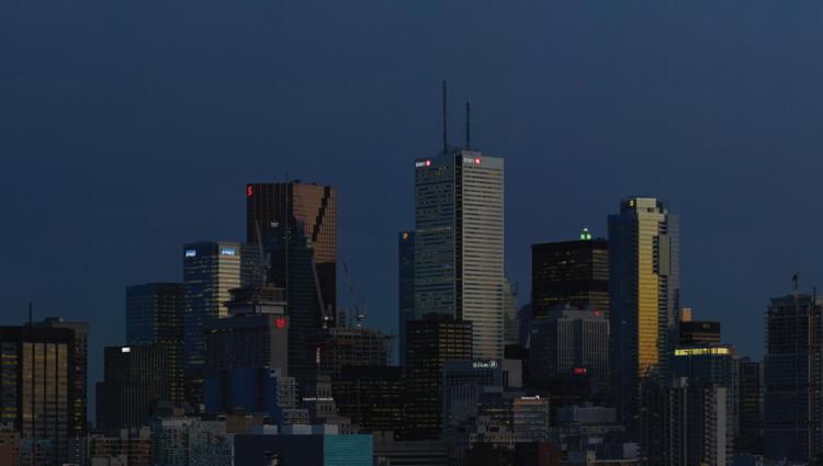 Aude Moreau, Downtown Toronto (twilight time), 2016