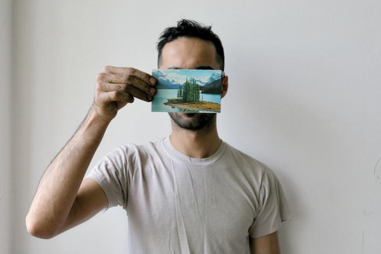 "Basil AlZeri, #7 from The Postcard Project II, 2015, Archival Pigment Print, 4""x6"""