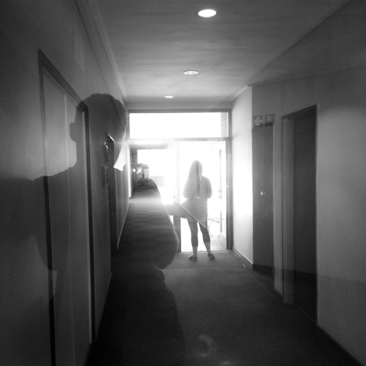 """Ian Willms, Sister and I at the Hospital, 2014, Archival Pigment Print, 10""""x10"""""""