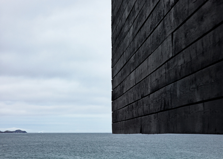 "Ned Pratt, Modern Architecture, Fogo, 2015. Chromogenic print, 33 x 46.25""."