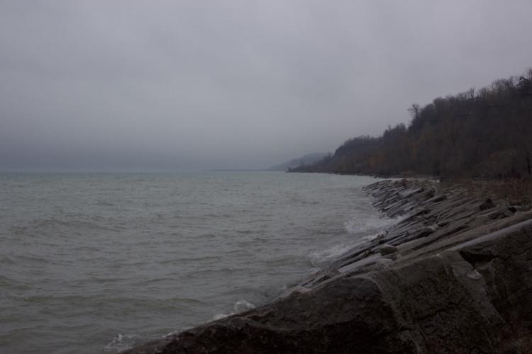 Jennifer Falvy, West Guildwood Slant, Lake Ontario Shoreline, 2016