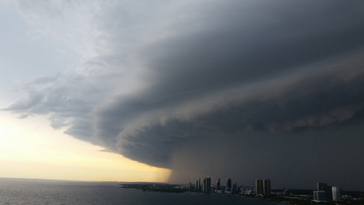 Donna Lypchuk, Storm Over Humber Bay, 2014