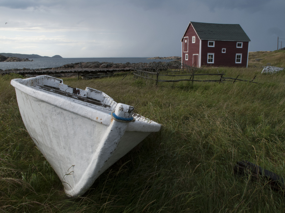 David H. Clendenning, Dory & Fisherman's House - Newfoundland Outport, 2013