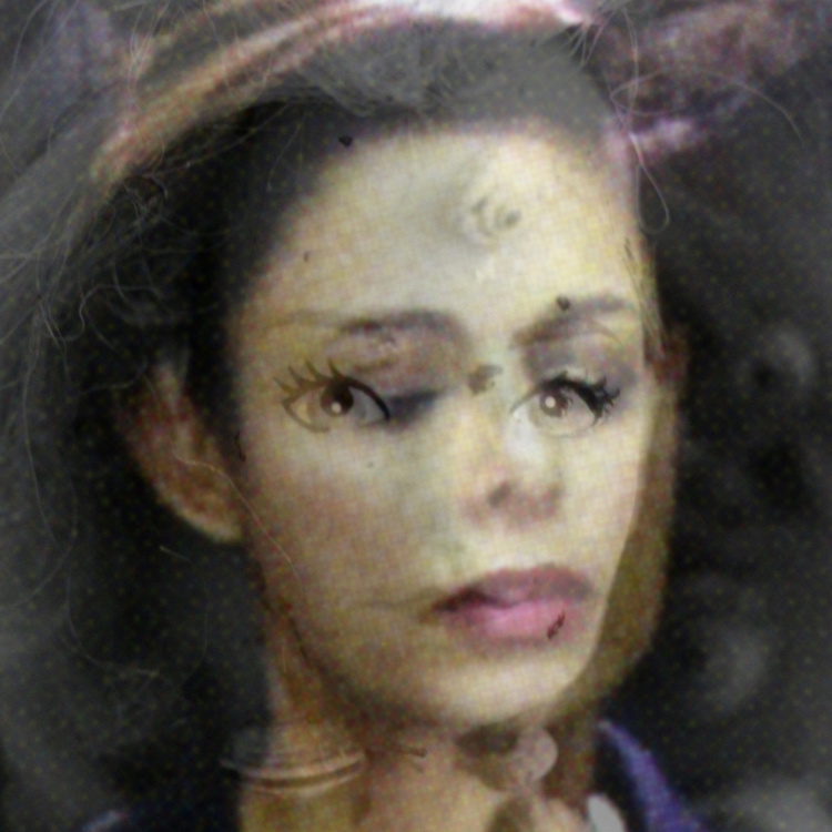 Gabrielle de Montmollin, Lawyer-Snail Face (lenticular print), 2015
