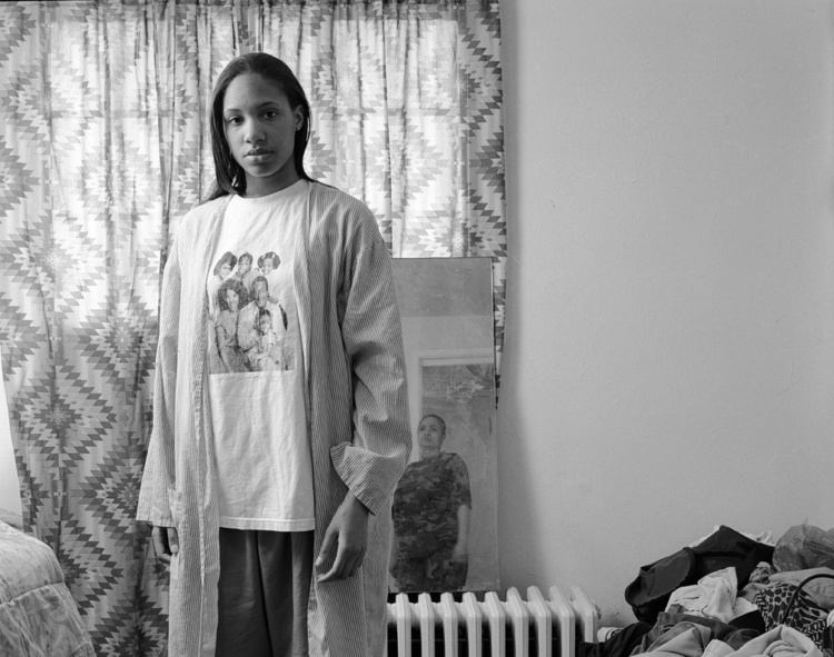 """LaToya Ruby Frazier, Huxtables, Mom and Me, 2008. Gelatin silver print, 24 x 28"""". Courtesy of the artist and Michel Rein, Paris/Brussels. Dr Kenneth Montague/The Wedge Collection"""