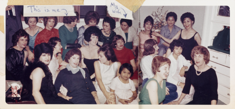 Unknown American, Large Group in the Living Room, 1963. Chromogenic print, 8.8 x 19 cm. Purchase, with funds generously donated by Martha LA McCain, 2015. 2014/915. © Art Gallery of Ontario.