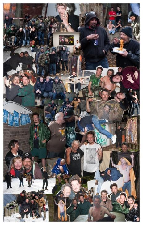 "Jeff Bierk In collaboration with ""Jimmy"" James Evans, Donald Evans, Brent, Bluenose, & Carl Lance Bonnici, , 2016"