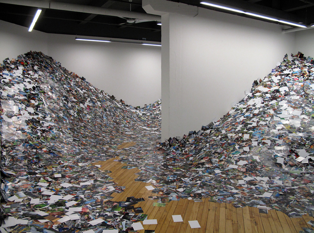 Erik Kessels, 24hrs in Photography, 2013 installation at CONTACT Gallery, Toronto