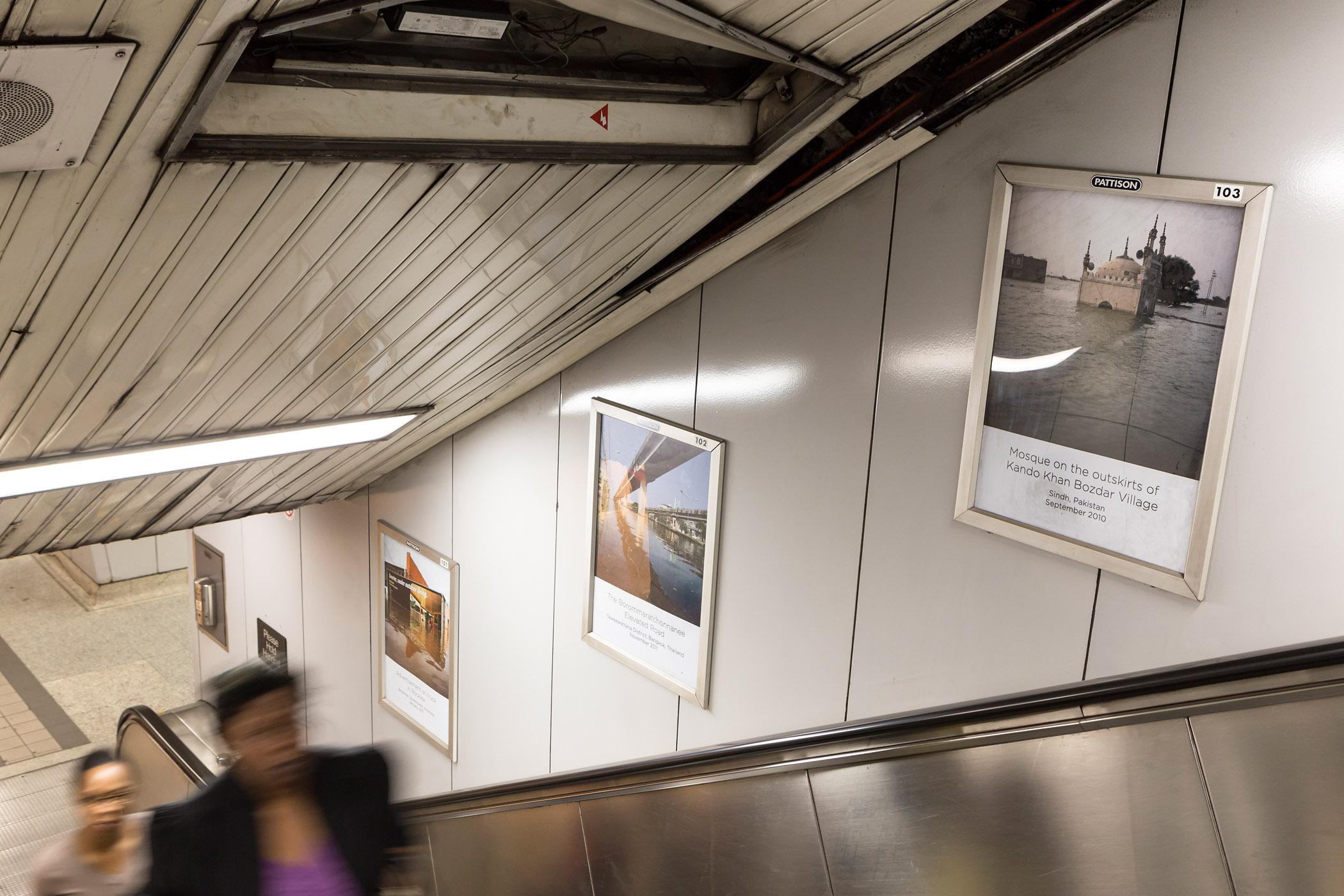 Drowning World, Installation view of Gideon Mendel,  Photo: Toni Hafkenscheid