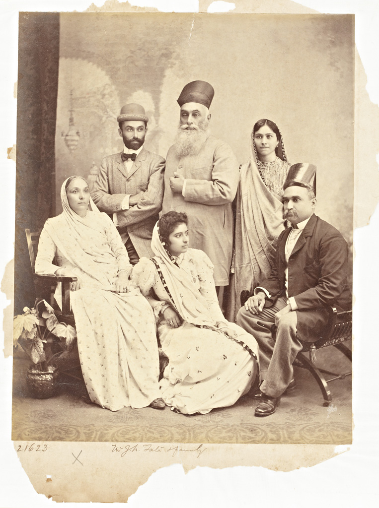C. Schultz, Staff Photographer, Raja Deen Dayal & Sons., Mr. J. N. Tata & Family, Mumbai, Maharashtra, India, 22 March 1898 On loan from the Peabody Essex Museum, PH81.52.