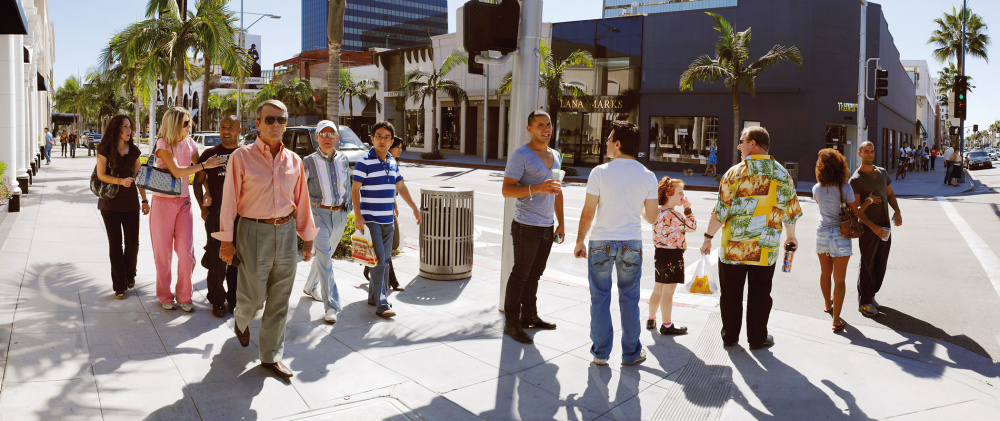 Barry Frydlender, Rodeo Drive, Los Angeles, 2011 Courtesy of the artist and Andrea Meislin Gallery, New York