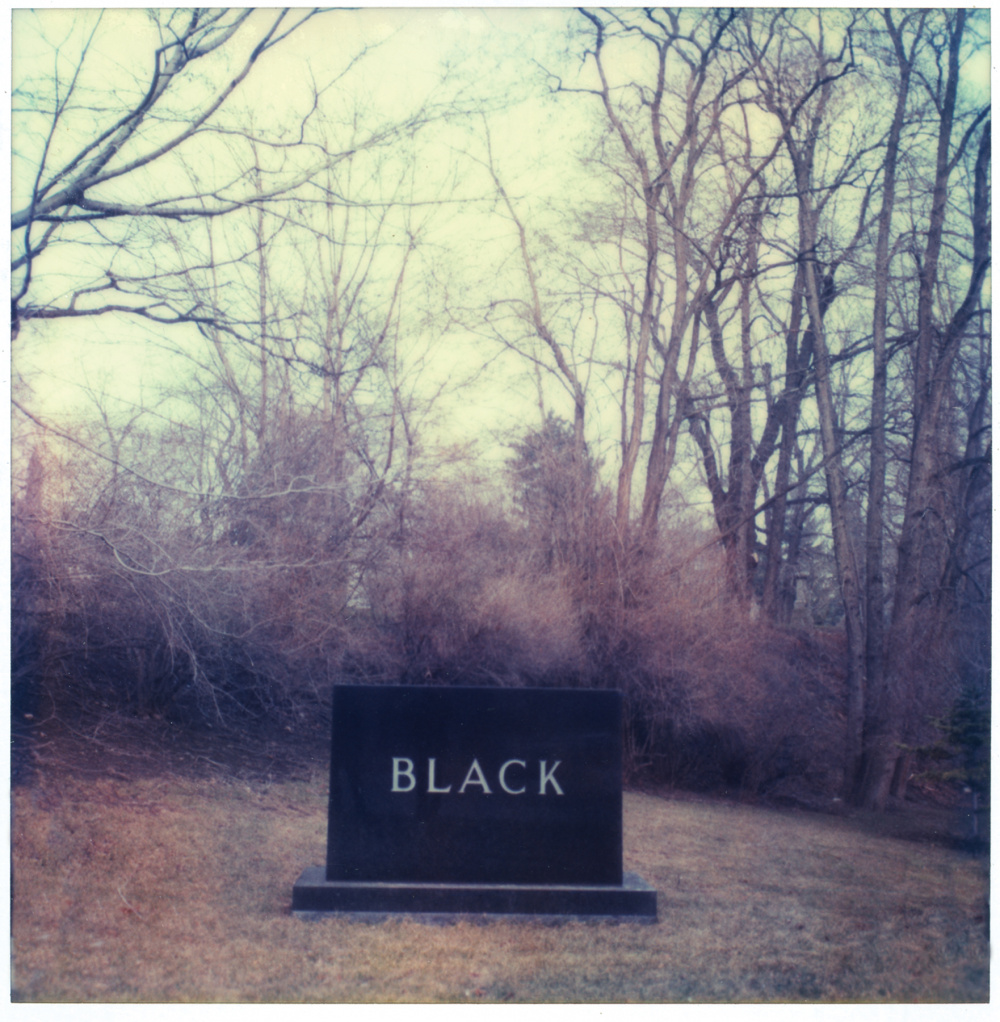 George Whiteside, Black, 1980, polaroid SX70