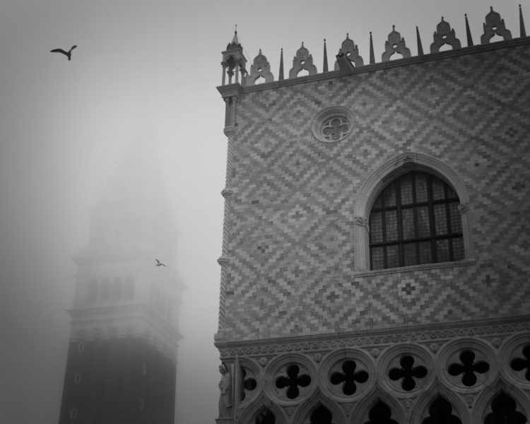 Bill Young, Venice, Fading Memories - Campanile and Palace, 2005, Archival inkjet print, 9 x 12 inches