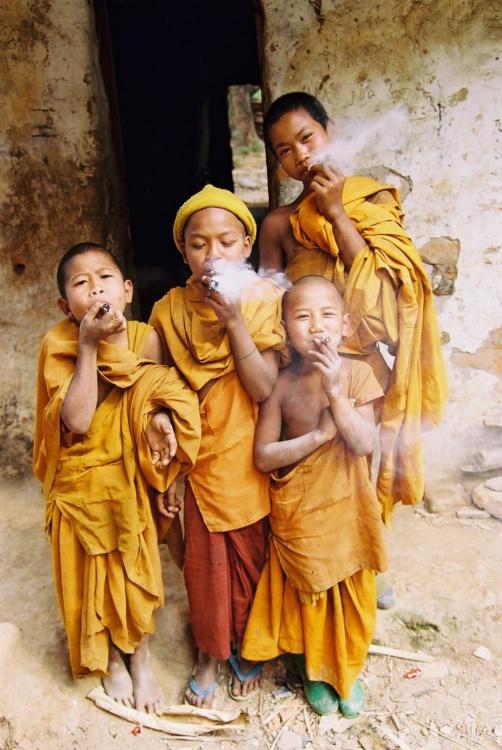 Glen Baxter, Novice Monks, Shan State, January 2006, Negative Print, 16 x 20