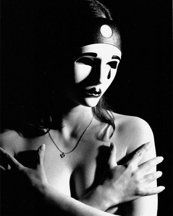 Robert O'Hoski, Mask-01, 2005, RC b&w print,   8 x 10
