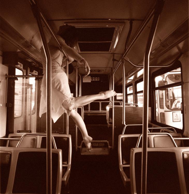 P. Marco Veltri, Dancer on the Bus, 2006, 20x20
