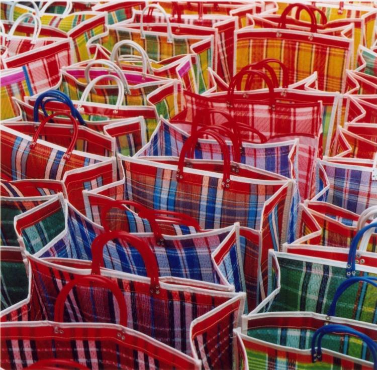 Michelle Quance, She sells beach bags, 2004, 26x26