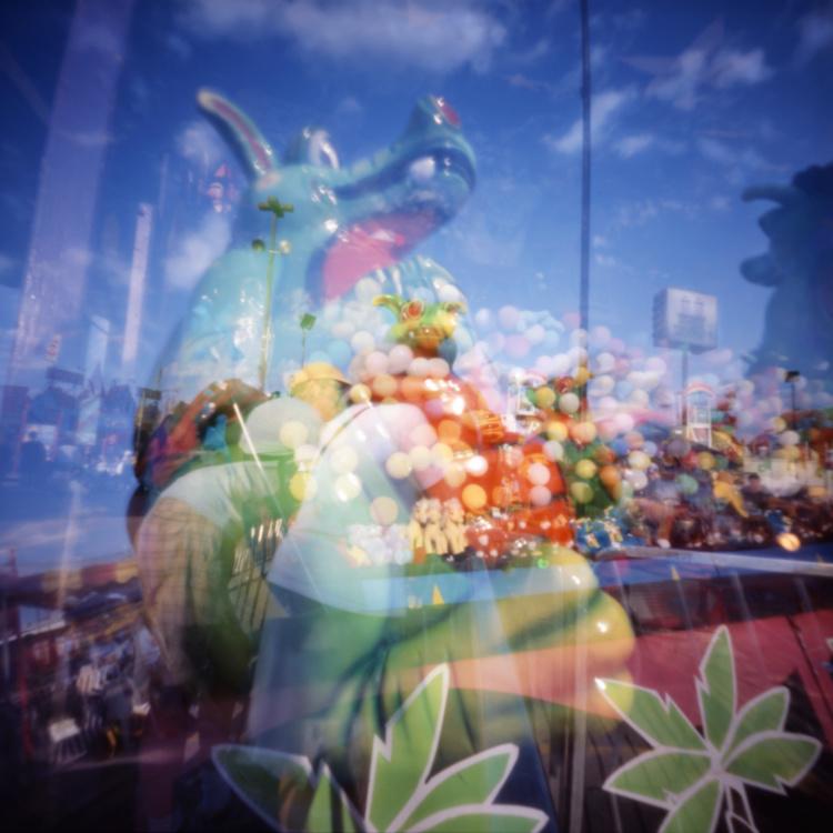 William Mokrynski, Dragon and Balloons, 2005, 22 x 22