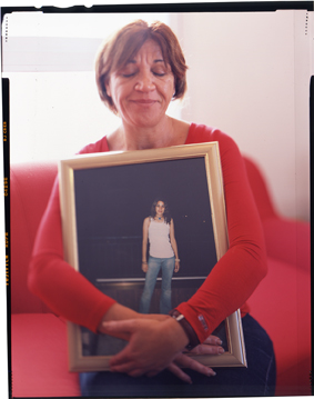 Jason Schwartz, Nava Siboni with photo of daughter Liron, age 19, 2006