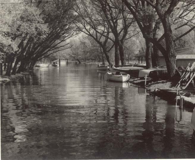 Reg Foster, Lazy Lagoon, RCYC Toronto Island 1955, Black and White 8 x 10