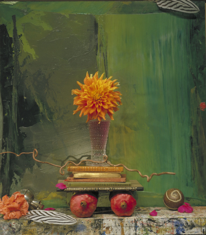 Ronald Boaks, Still Life,Pomegranates on Green, 2005, Fujiflex on Dibond, 48