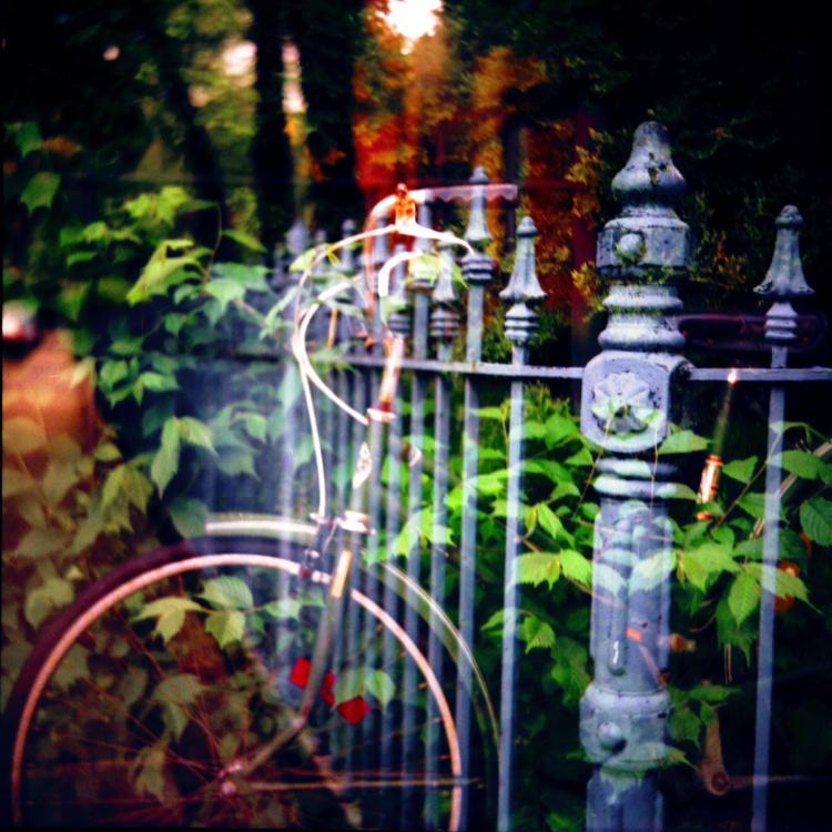 Rannie Turingan, Bike and Fence, 2004, Custom Giclee Print 12 x12