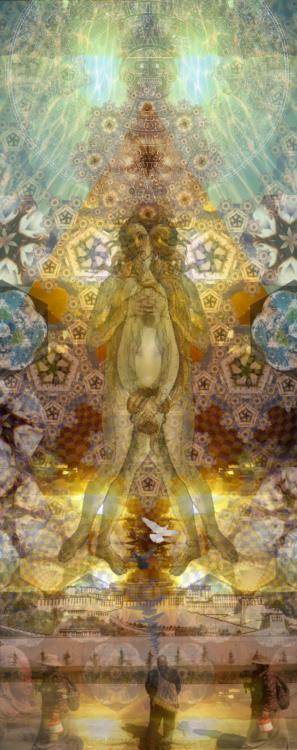 Michelle Lynn Johnson, Universal Faith, Digital Collage, 20x60
