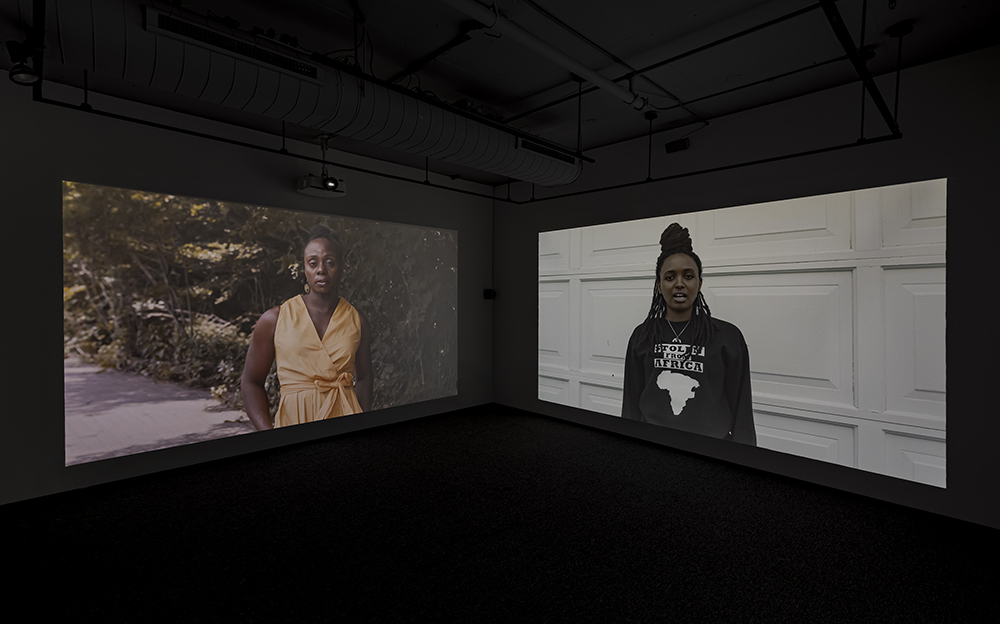 Kelly Fyffe-Marshall, POWER, 2020. Installation view, Doris McCarthy Gallery. Courtesy of the artist and Doris McCarthy Gallery. Photo: Toni Hafkenscheid.