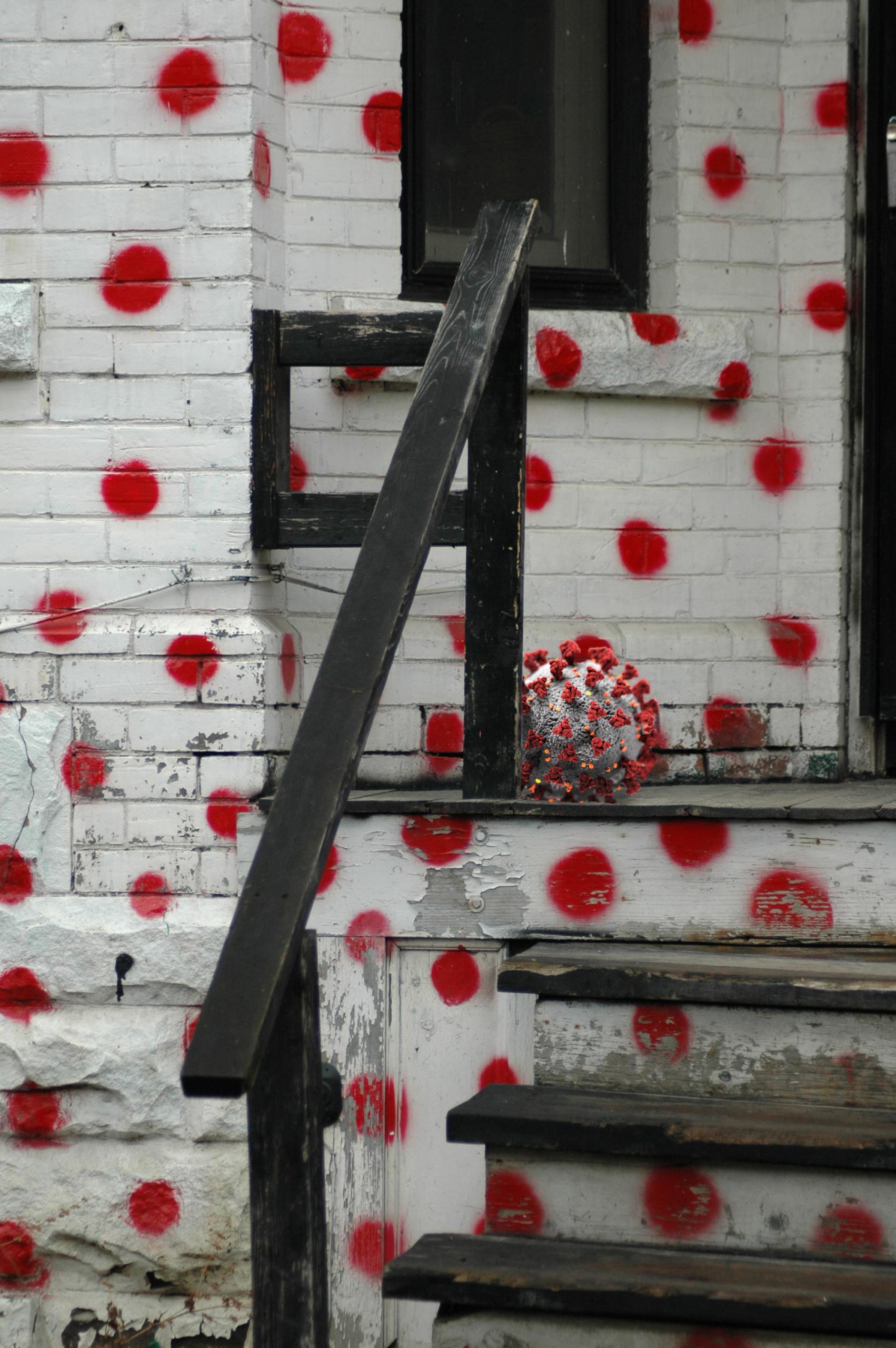 Gordon Wenzel, red dots, 2020