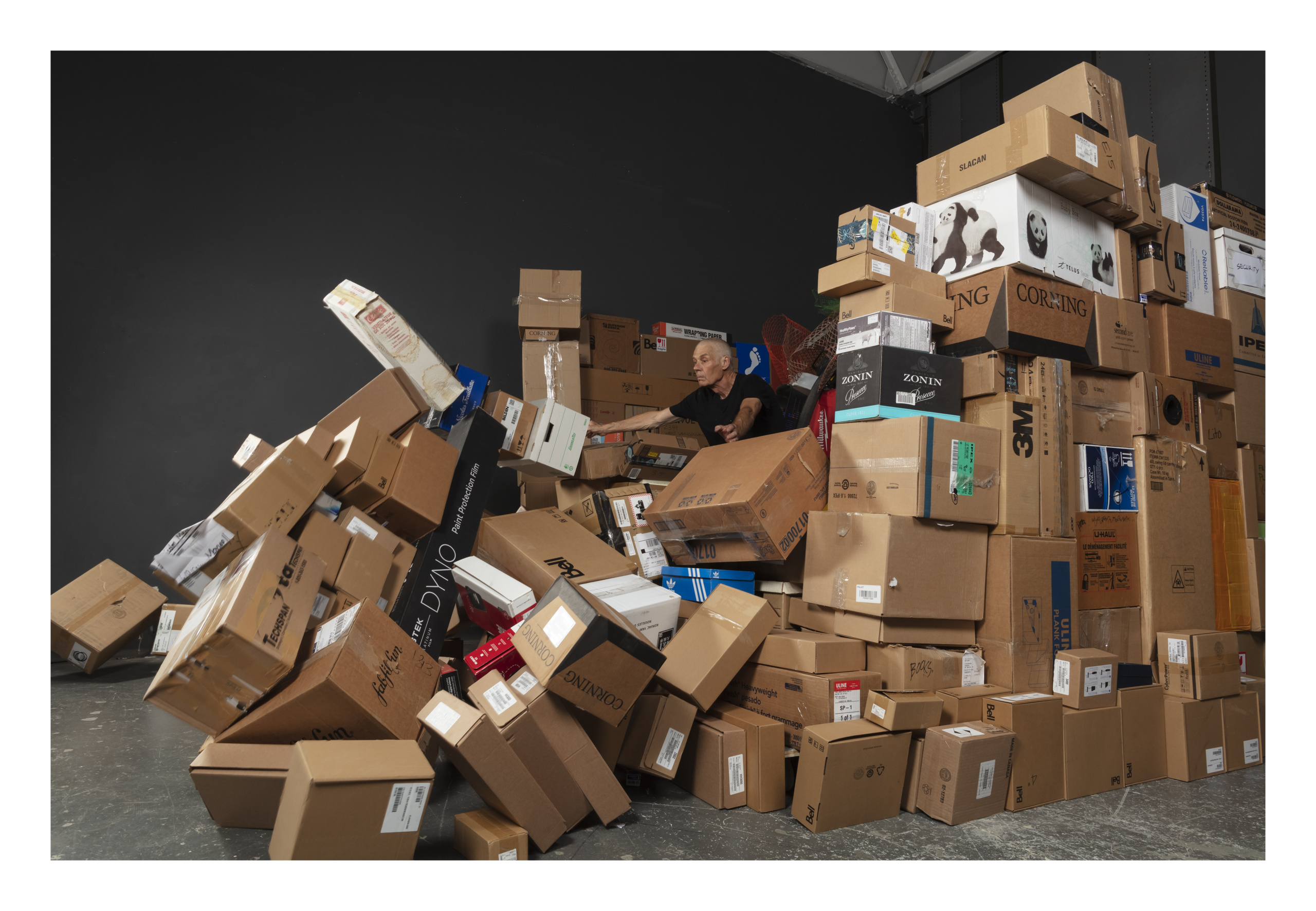 Max Dean, Toppling the Box Room, 2020. © Max Dean / courtesy Stephen Bulger Gallery