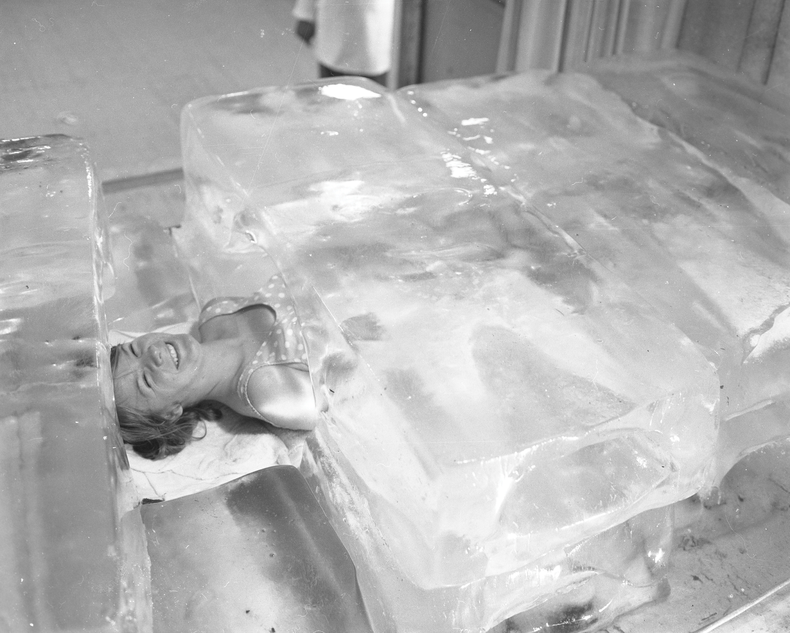 Girl in Ice Block, August 20, 1966, Canadian National Exhibition Archives, MG5-F1620-I4. Courtesy of the CNEA