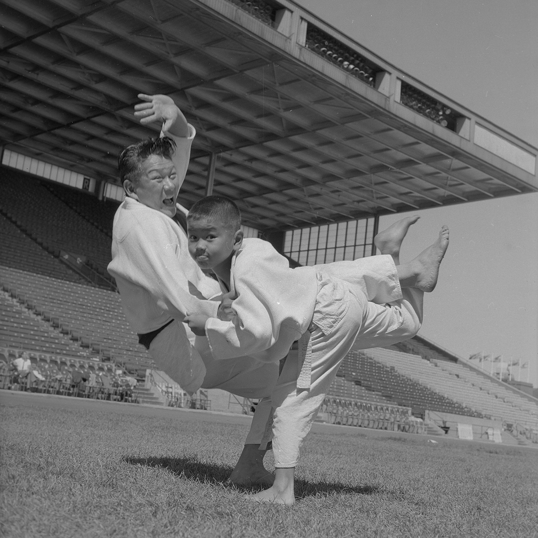 Martial Arts Demonstration at Grandstand, 1962. Canadian National Exhibition Archives, MG5-F771-I15. Courtesy of the CNEA
