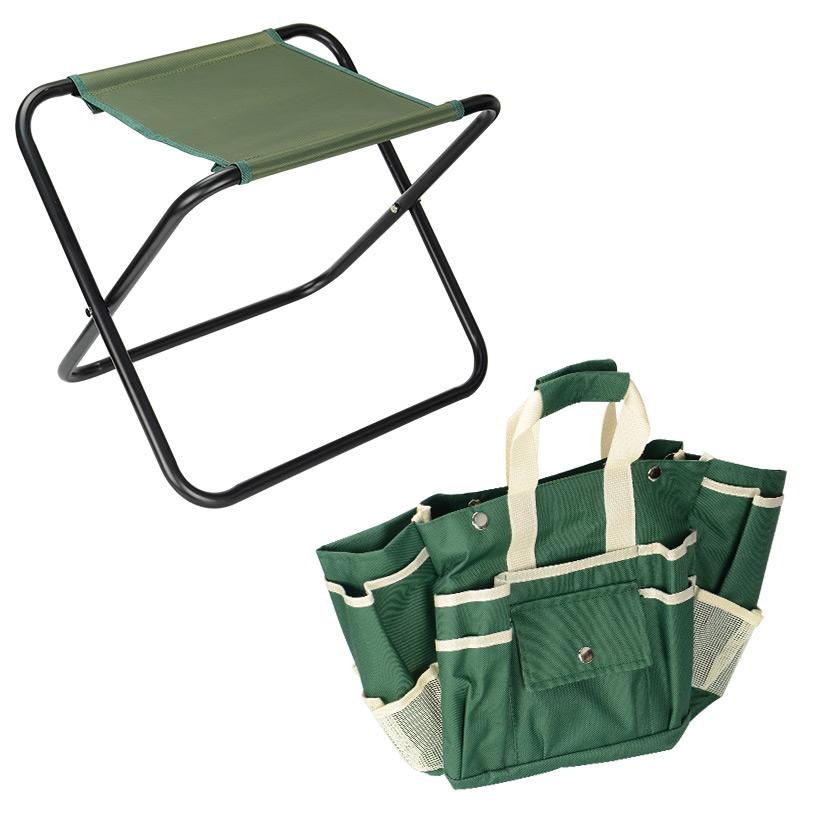 Awe Inspiring 7Pcs Garden Tool Bag Set Folding Stool Seat Tools Gardening Stainless Steel Gift Uwap Interior Chair Design Uwaporg